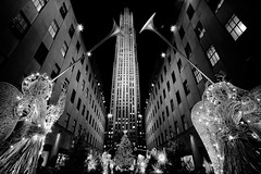 W  I  D  E  .   .   . (Barry Yanowitz) Tags: christmas nyc newyorkcity longexposure blackandwhite bw holiday ny newyork blackwhite holidays flickr nightshot manhattan chanukah rockefellercenter christmastree midtown gothamist nightphoto radiocitymusichall xmass hanukkah nycity