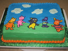 Backyardigans Cake (Edible Epiphanies) Tags: cake imagetransfer buttercream backyardigans kidscake