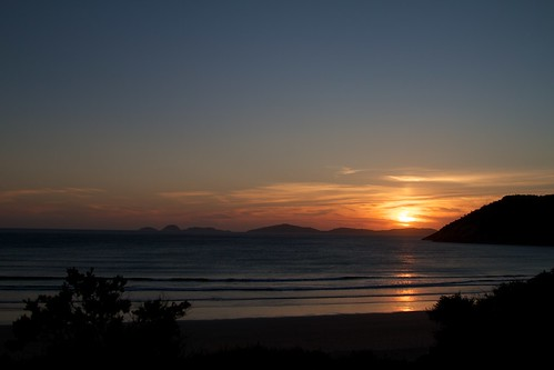 Sunset over Oberton Bay