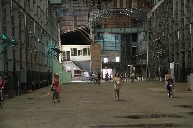 filming in the turbine hall