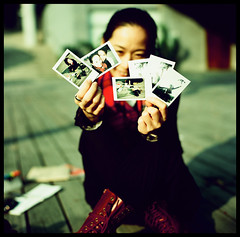 Instant (Lefty Jor) Tags: 120 6x6 film girl t xpro crossprocessed day fuji dof photos bokeh taiwan slide hasselblad instant taichung expired provia100f misu planar 台中 500cm rdp carlzeiss 80mmf28 國立美術館