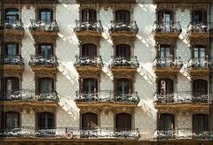 Barcelona, Spain (David Simchock Photography) Tags: barcelona windows espaa window facade photography photo spain nikon mediterranean image balcony espana balconies 2009 watermark espaa vagabondvistas davidsimchock davidsimchockphotography