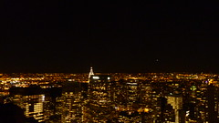 Top of the Rock, Manhattan, New York, USA, October 2010 (PaChambers) Tags: topoftherock top rock topofrockefellercenter center esb building empire state empirestatebuilding skyline buildings ny new york nyc midtown downtown uptown manhattan us usa united states america north northamerica 5thavenue 5th avenue avenueoftheamericas americas internationalpaperbuilding internationalpaper bankofamerica bank pennplaza penn plaza freedom tower freedomtower night nightime evening newyork skyscraper elevated view panorama roof observatory panoramic newjersey jersey brooklyn queens down town up landmark views tz6 tz7 lumix panasonic 30rock 30 ge general electric generalelectric manhattanskyline manhattanskyscrapers