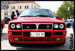 Lancia Delta HF integrale 2 (Nardo87) Tags: old red summer italy car canon vintage logo arms fiat rally engine martini valle delta racing age della prato lancia integrale 450d nardo87