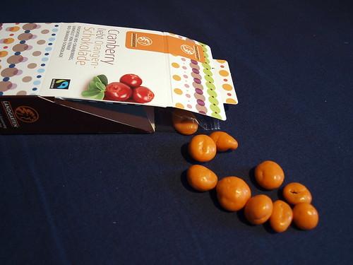 Cranberry liebgt Orangen-Schokolade