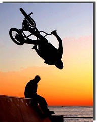 bike (meghimeg(temporarily disconnected)) Tags: sunset sea bike bmx tramonto mare explore genova bici bicicletta 2011 bmxfreestyle abigfave bmxbicycle