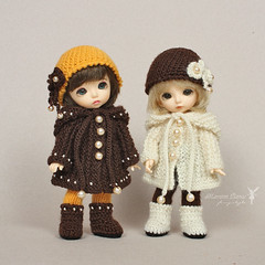 Sets for PukiFee (Maram Banu) Tags: zoe doll handmade clothes tiny bonnie bjd knitted crocheted fairyland outfits fairystyle pukifee marambanu