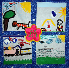 Brownie Girl Scout Troop 214 from Frakes, KY (International Fiber Collaborative, Inc.) Tags: mountain newyork london art home water rain kids stars visions washington community war flickr peace anniversary kentucky space unitedstatesofamerica dream conservation felt save nasa explore health scouts council leader express reach olympics agriculture breastcancer humans global facebook discover sochi saturnvrocket presidentobama internationalfibercollaborative thedreamrocket