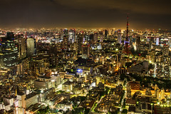 [Free Image] Architecture/Building, City/Town, Tall Building, Tower, Night View, Japan, Tokyo, Tokyo Tower, 201012241900