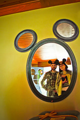 (rachelakelso) Tags: self mouse glasses us couple ears mickey disneyworld hate mister shaun onlocation magickingdom mirrorshot year3 365days rainslickers 121210 withshaun canonrebelt2i