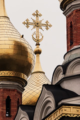 Byzantine Cross (bill_anders) Tags: austria byzantine vienna wien building brick church cross russianorthodoxchurch roc moscowpatriarchate orthodoxchristianchurchofrussia christians eastern orthodox patriarch moscow communion easternorthodoxchurches dome oniondome gold leaf pigeon tserko khram temple dioceses diocesan sobor monastery bishop cathedra catholicon service services eparchy stauropegial cupola cupolas heads poppyheads crescent anchor symbolizes hope salvation