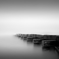 Terminus (Jeff Gaydash) Tags: longexposure blackandwhite water square pier seascapes lakemichigan greatlakes zen minimalism lakescapes nd110 artifakts