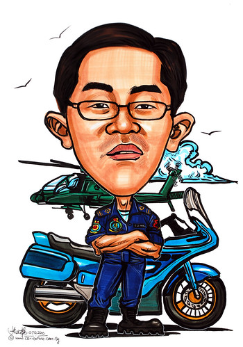 Caricature for Singapore Airforce 07122010