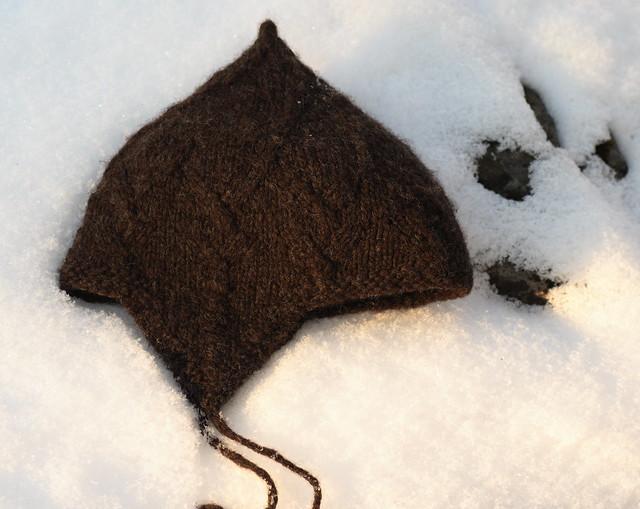 Handspun Corriedale - Big Warrior Hat, lett tovet     - korrekt farge      IMG_3718
