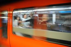 Subway - Lyon, France (Steve Lindenman) Tags: people motion blur france train subway lyon lindenman cpmg0111sa