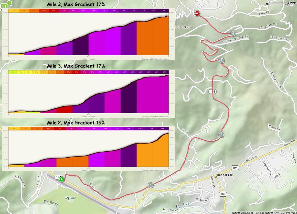 Beech Mountain South MAp in Alt