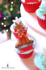 My little Reindeer 1 (Little Cottage Cupcakes) Tags: christmas snowflakes cupcakes reindeers fondant cupcaketower sugarpaste littlecottagecupcakes