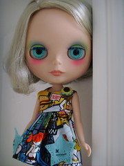Harlow rockin' Buttonarcade (how awesome is this dress???)