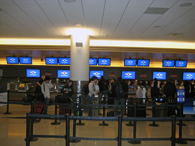 Southwest Airlines Check-in counter
