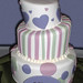 Purple Hearts and Stripes Baby Naming