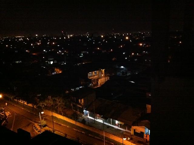Night falls over Jakarta
