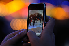 I phone ! (marco rubini) Tags: london bokeh icerink winterwonderland pattini iphone d300 hidepark pattinaggio veterinarifotografi