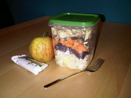 Layered lunch salad