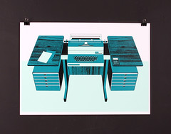 Desk No.3 by Tom Rowe (bobeightpop) Tags: screenprint bep tomrowe bobeightpop