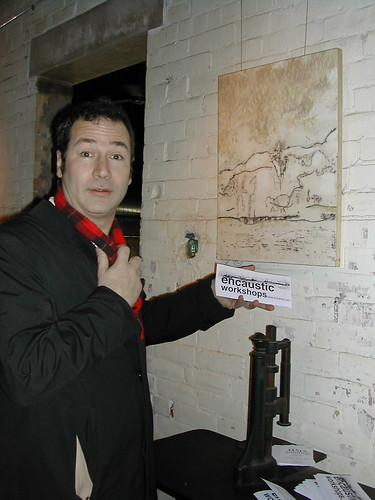 Encaustic painting art exhibit in Toronto Ontario Distillery District
