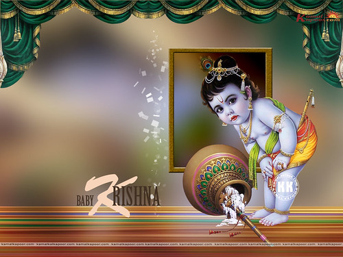 wallpaper of baby krishna. Hindu God Baby Krishna