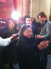 Rose Pak talking to media #sfmayor (Steve Rhodes) Tags: cameraphone sf sanfrancisco california ca mobile moblog december 2010 iphone iphone4 iphonephoto december2010 iphoneography dec2010 iphone4camera iphone4photo