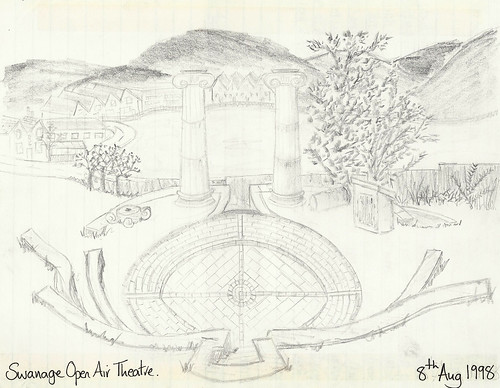 Swanage Open Air Theatre Sketch - Copyright R.Weal 1998