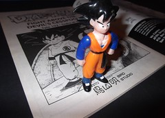Drawn to Life (Wolfy Warrior) Tags: blue orange white black anime art standing magazine toy japanese book model comic cartoon manga culture drawings son adventure story journey destiny figure warrior challenge dragonball shadowing goku