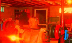 Red Rum, Red Rum, Red Rum! (rawart90) Tags: hot hell basement curls bodybuilding carbs weightlifting 60 eggnog redrum carbloading age60 130lbs