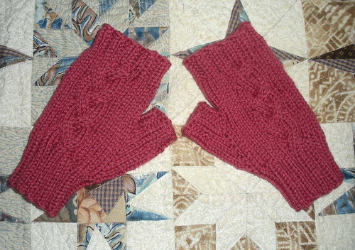 Finished mitts for me