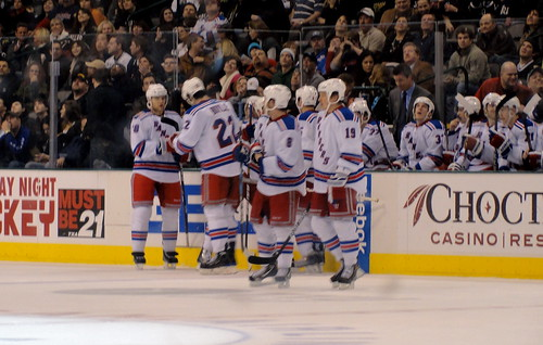 New York Rangers bench by Anna Enriquez, on Flickr