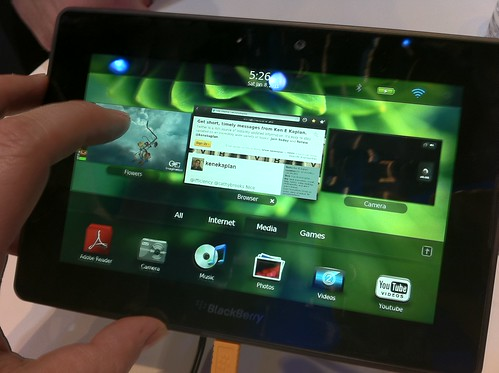 Tablet Spotting at CES 2011:  Blackberry Playbook Tablet