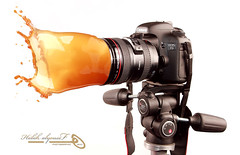 Canon EOS 7D Splash (Halah Al-yousef ||||) Tags: macro coffee canon eos 100mm 7d 1855mm splash      halah              quotidiae  alyousef