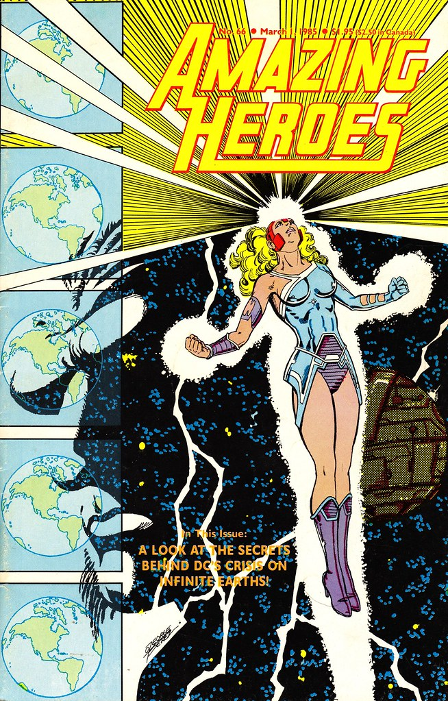Amazing Heroes 66 Crisis cover 1985 by George Perez