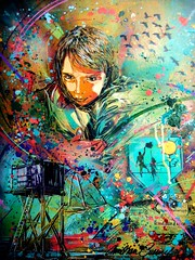 "C215 - ""Take Time to Live"" (C215) Tags: streetart art french graffiti stencil christian pochoir masacara szablon c215 schablon gumy piantillas"