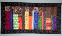 Bookshelf Quilt - Entry for Project QUILTING Primary Colors Challenge