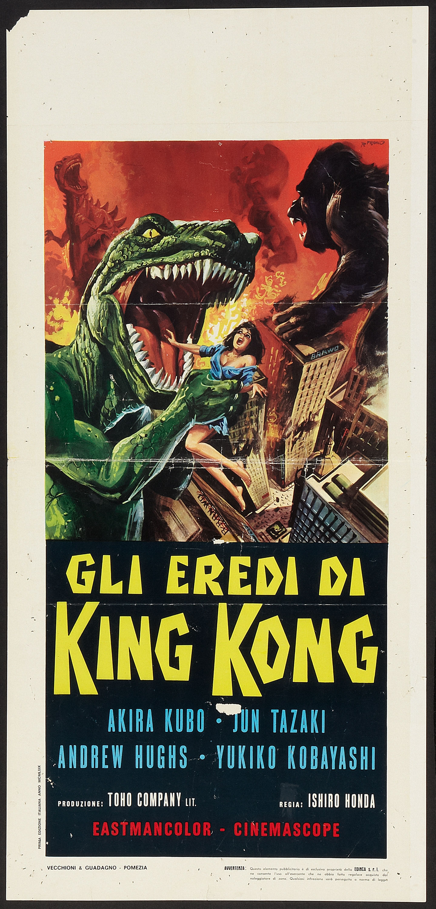 Destroy All Monsters (Toho, 1969). Italian
