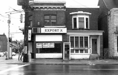Davenport Rd - October 2, 1988 (collations) Tags: toronto ontario abandoned architecture documentary vernacular storefronts streetscapes builtenvironment deadstores cornerstores conveniencestores urbanfabric closedforbusiness emptystores formerstores varietystores
