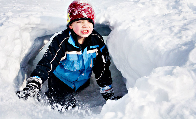 Jacob in snow fort2