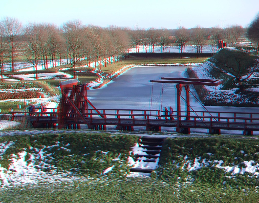 Bourtange stronghold 3D photo (anaglyph)