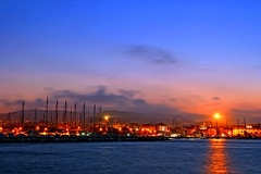 Dusk in the harbor (grazanna) Tags: sunset harbor twilight tramonto dusk explore porto crepuscolo sanbenedettodeltronto tamron18200