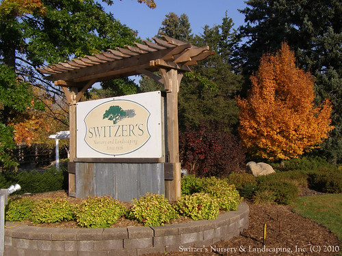 Switzer's Nursery & Landscaping business sign on Highway 3