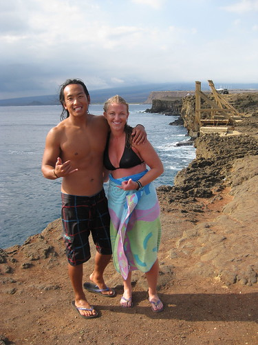 Abe and I after leaping off the South Point cliffs