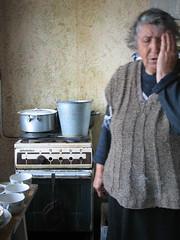 IMG_0248ptt (Laetitia Blancher) Tags: kitchen bucket grandmother casserole stove nagornokarabakh armenia pan tiredness fatigue everydaylife grandmre quotidien armnie seau cuisne karabagh artsakh cuisinire viedefamille familyscene hautkarabakh kerashen