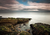 Rascarrel Bay (.Brian Kerr Photography.) Tags: ocean longexposure sea clouds coast scotland rocks scottish coastal coastline windfarm solway turbines dumfriesgalloway robinrigg rascarrelbay